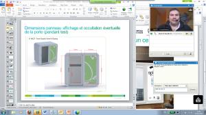 Session webex : présentation, chat et visio