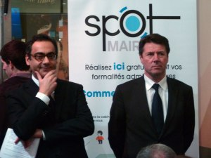 Robert Vassoyan et Christian Estrosi annoncent SPOT Mairie (source: Cisco)