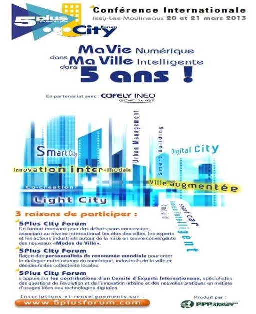 5 Plus City Forum à Issy-les-Mouineaux les 20 et 21 mars